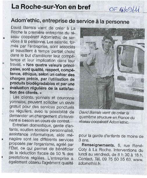 Adom 39 ethic espace presse - Ouest france le journal gratuit ...